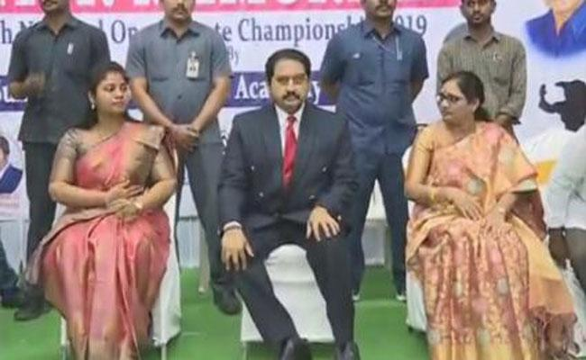 Suman Attended Inauguration Of Karate Competitions In Vijayawada - Sakshi