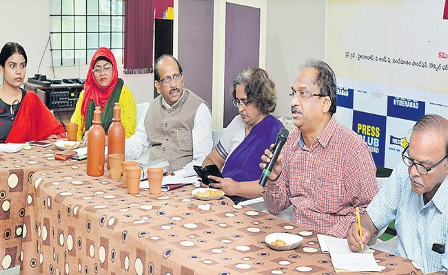 Professor Nageshwar Rao Speaks At Round Table Meeting - Sakshi