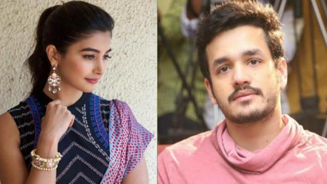 akhil with pooja hegde movie song shooting at hyderabad - Sakshi