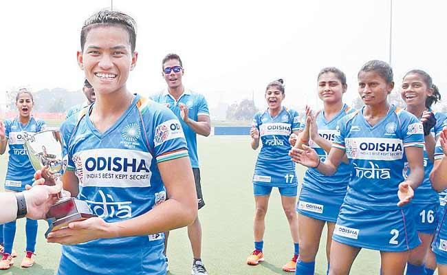 India Won The Junior Womens Hockey Tournament - Sakshi