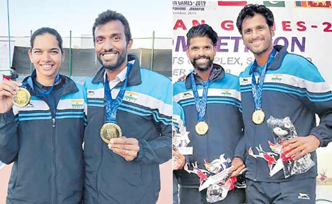 Indian Players Are Ahead In The South Asian Games - Sakshi