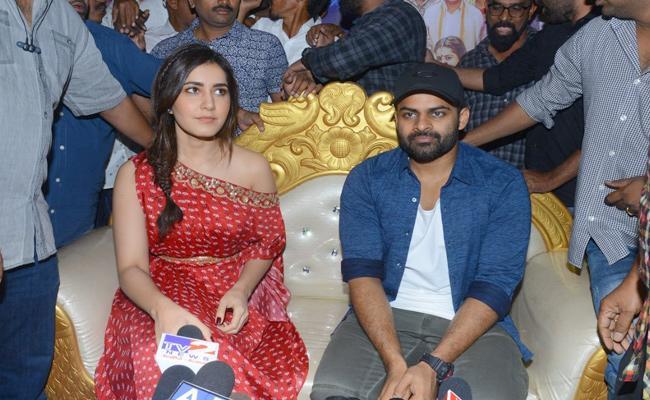 Telugu Movie Prati Roju Pandage Promotion at Guntur - Sakshi