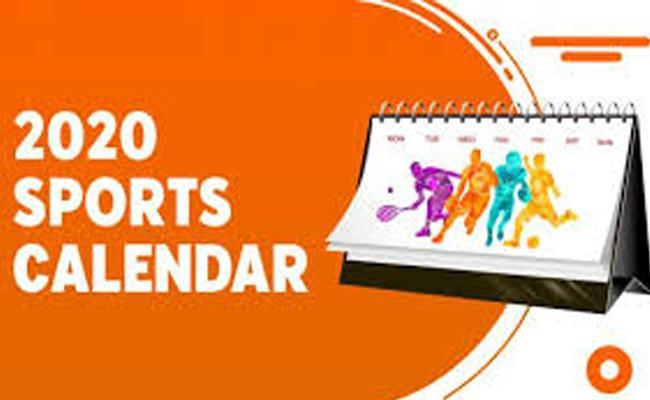 Sports Calender Of 2020 - Sakshi