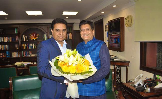 KTR Meets Union Minister Piyush Goyal In Delhi - Sakshi
