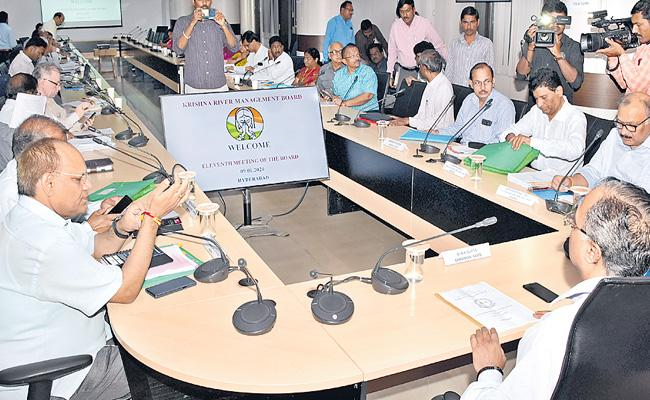 Krishna River Management Board Decided To Allocate 140 TMCs For Telangana And 84 TMCs For AP - Sakshi