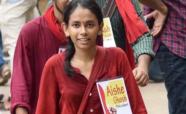 Who Is Aishe Ghosh JNU President - Sakshi