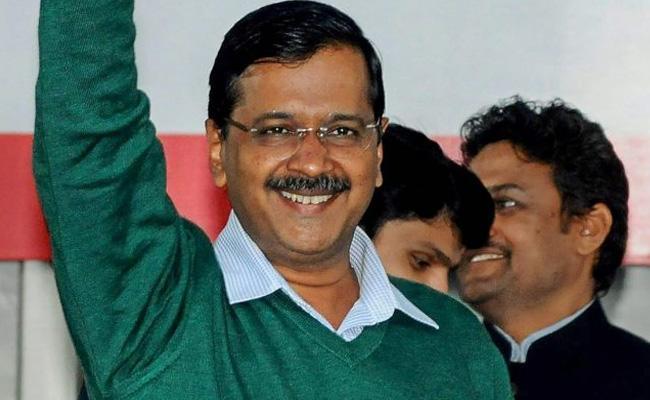 Arvind Kejriwal Releasing Campaign Song For Delhi Elections - Sakshi