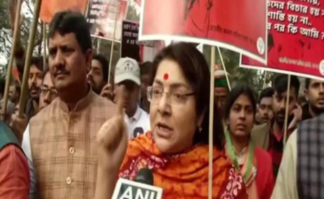 Bengal BJP Leaders Stage Rally Against Supreme Court Orders - Sakshi