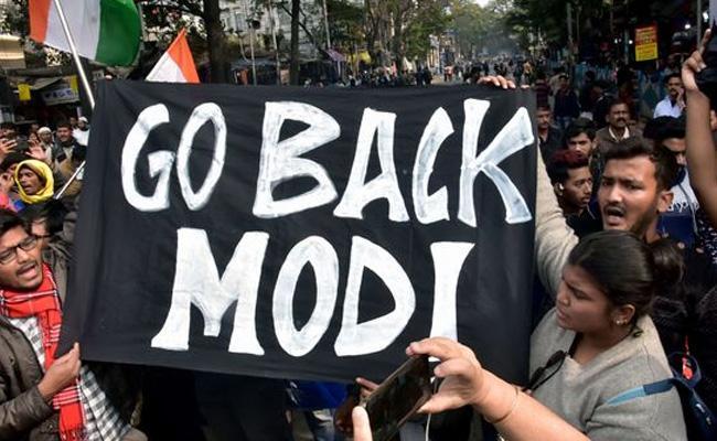 Go Back Modi Banners In Kolkata - Sakshi