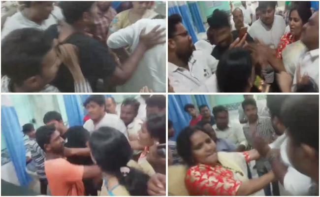 Jenasena Cadre create ruckus in Kakinada GGH - Sakshi