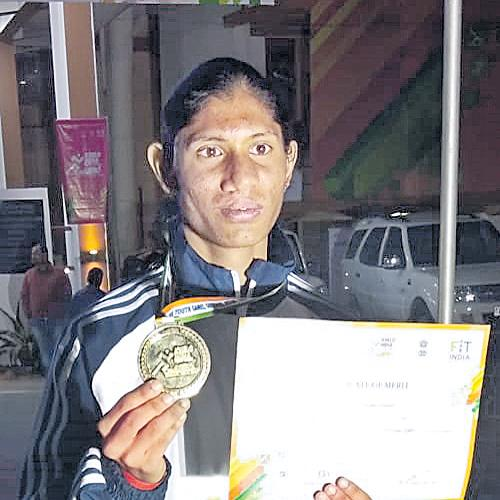 Deepti Wins Gold Medal In Khelo India 2020 - Sakshi