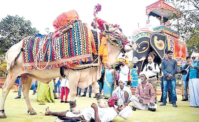 Shilparamam Decoration For Sankranti Festival - Sakshi