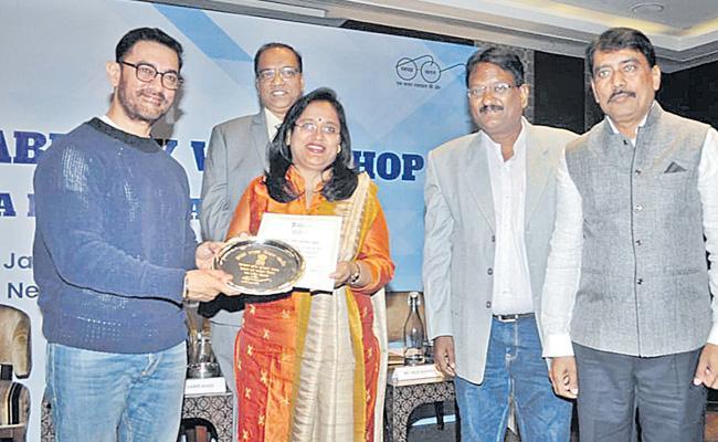 National Award For Peddapalli District - Sakshi