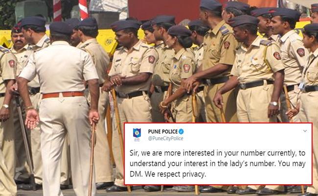 Man Asks Pune Police For Woman Phone Number On Twitter - Sakshi