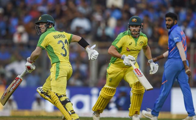 IND Vs AUS: Warner, Finch Slam Centuries To Help Austalia's Big Victory - Sakshi
