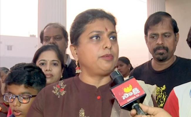 MLA Roja Questions To Chandrababu Over Andhra Pradesh Capital - Sakshi