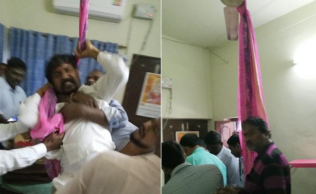 TRS Leader Attempts Suicide In Suryapet - Sakshi