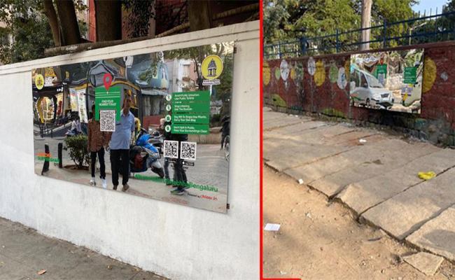 BBMC New Idea For Ban Open urination on Walls karnataka - Sakshi