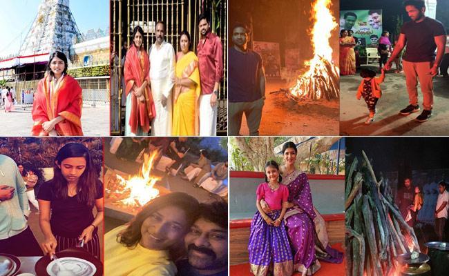 Tollywood Celebrities Sankranthi Celebrations - Sakshi