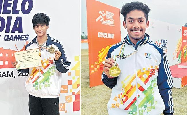 Telangana Players Won Four Gold Medals At Khelo India Youth Games - Sakshi