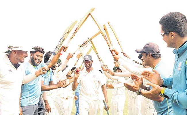 Andhra Cricket Team Third Win In Ranji Trophy Season - Sakshi