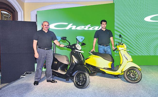 Chetak Electric scooter starts at Rs one lakh - Sakshi