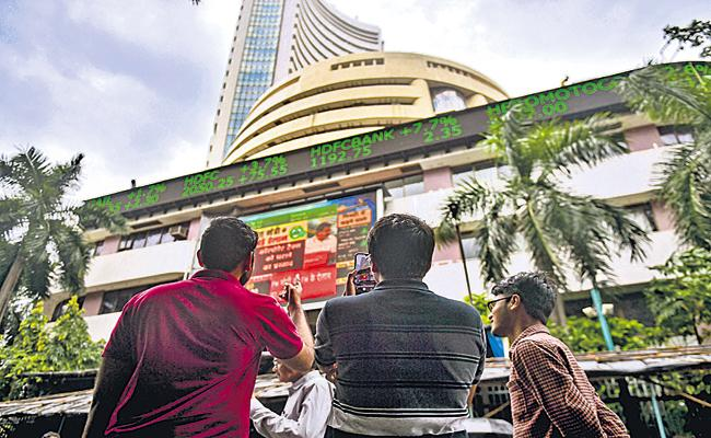Sensex gains 93 points at 41953 - Sakshi