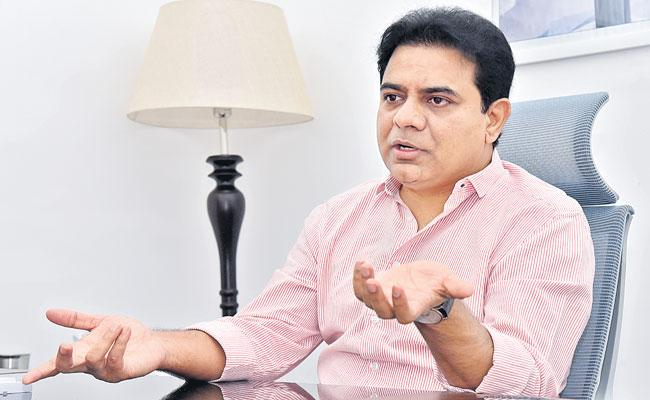KTR Exclusive Interview With Sakshi Over Municipal Elections