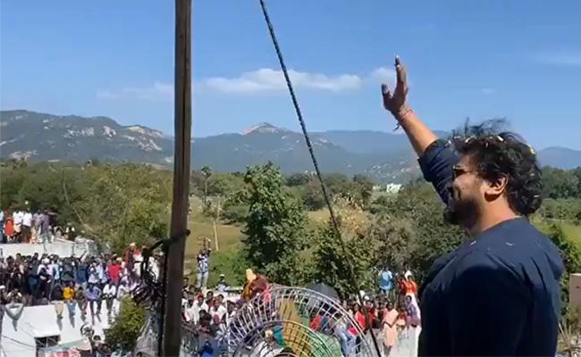 Manchu Manoj Sankranthi Celebrations At Own Village Rangampeta - Sakshi
