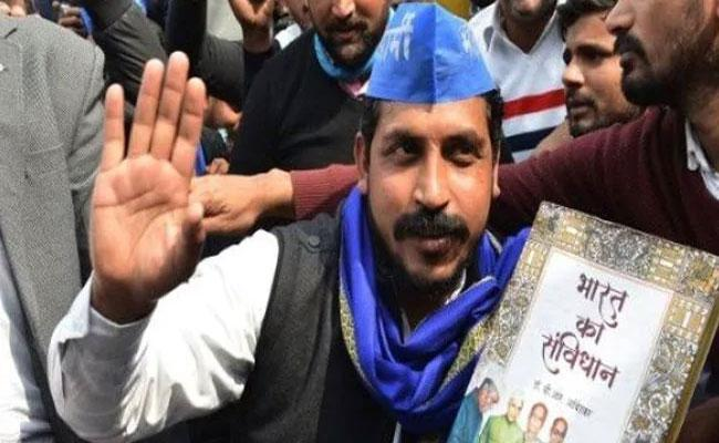 Chandrashekhar Azad Is Back At Jama Masjid Anti CAA Protest - Sakshi