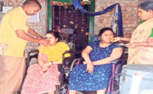 Parents Requests To Help For Disabled Daughters - Sakshi