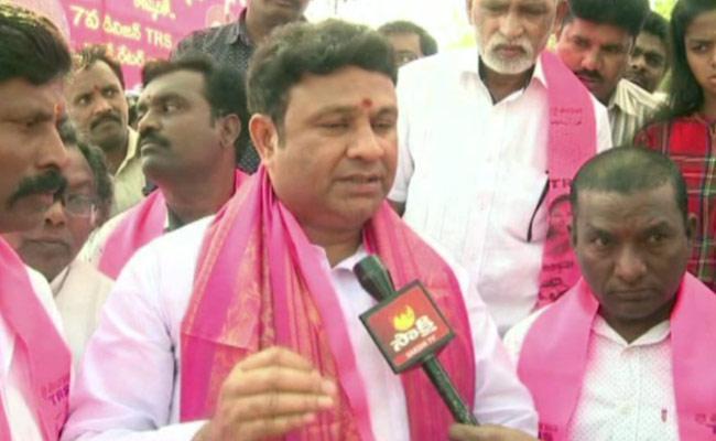 TRS MLA Beegala Ganesh Gupta Challenge To MP Aravind - Sakshi