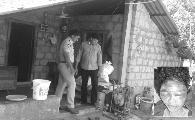 Husband Killed His Wife In Vizianagaram District - Sakshi
