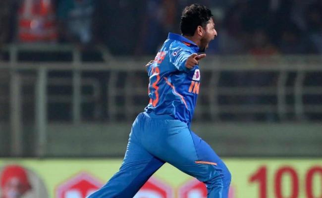 IND Vs AUS: Kuldeep 3rd Fastest Indian To 100 ODI Wickets - Sakshi