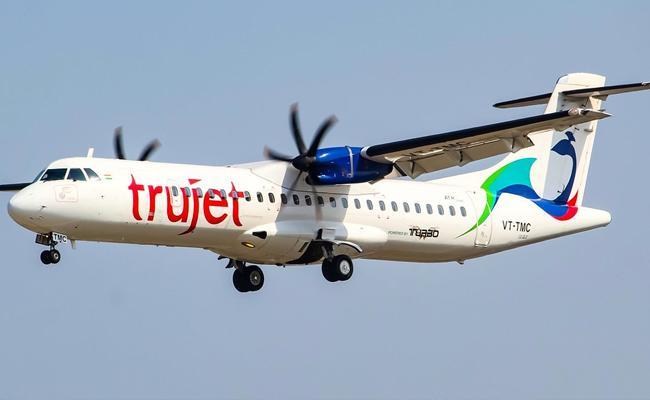 Kadapa To Vijayawada Trujet Flight Narrowly Missed Risk  - Sakshi