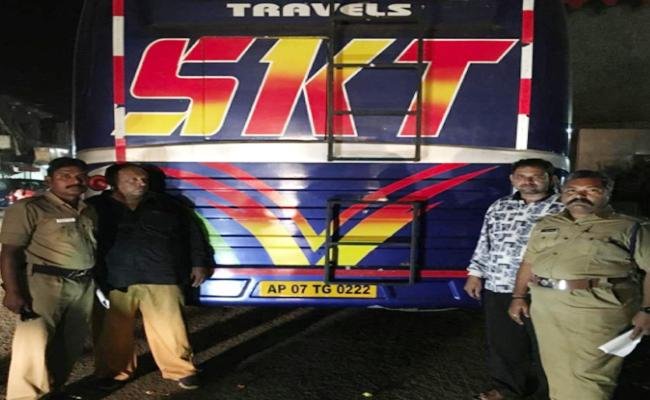 High Tech Bus Seized In Amalapuram - Sakshi
