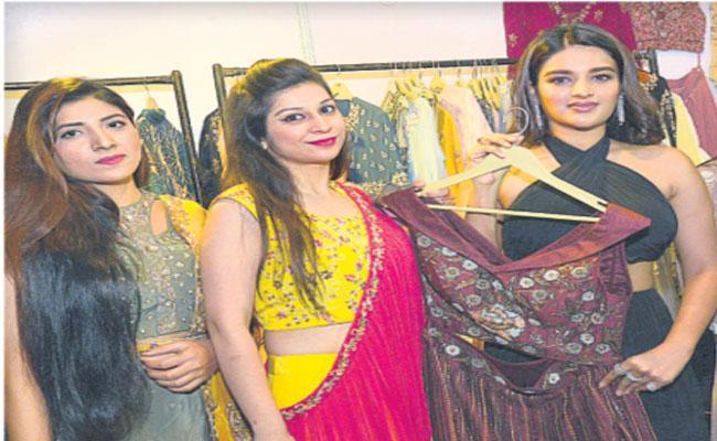Actress Nidhi Agarwal Opens Sutraa Lifestyle Exhibition - Sakshi