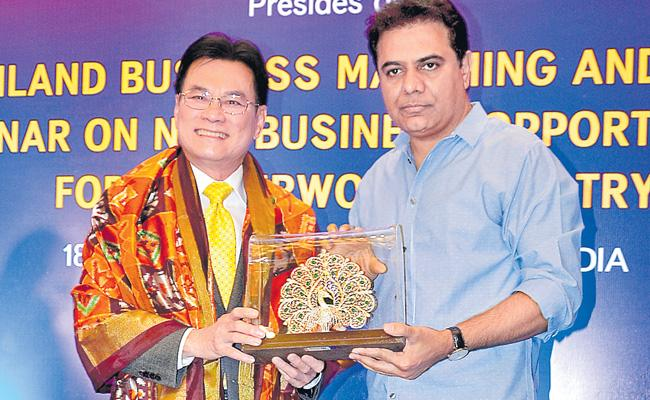 Rubberwood Industry Will Be In Telangana Says KTR - Sakshi