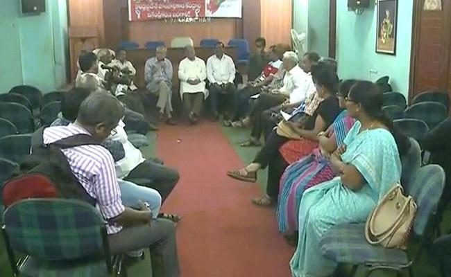 Public Union Round Table Meeting On Decentralization Of Governance In AP - Sakshi