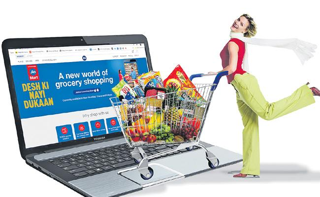 Reliance Industries Entered Into Online Grocery Services - Sakshi