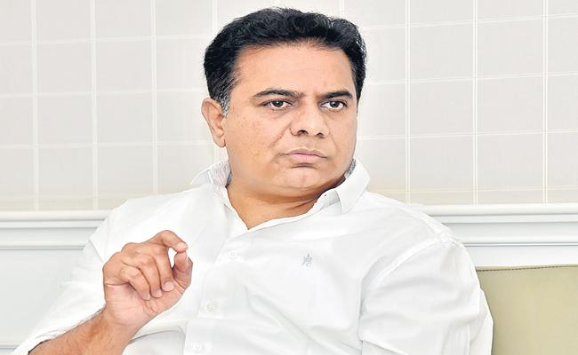 Minister KTR Talking With Media in Telangana Bhavan - Sakshi