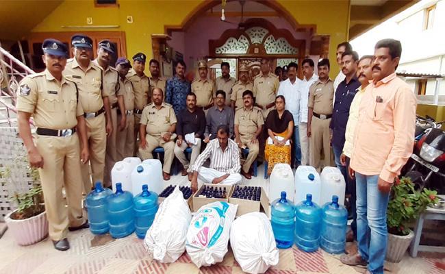 Adulterated Alcohol Gang Arrest in Prakasam - Sakshi