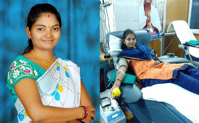 Young Woman Thulasi Blood Donation Story YSR kadapa - Sakshi