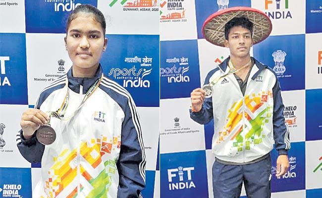 Telangana Wins Two Medals At Khelo India Youth Games - Sakshi