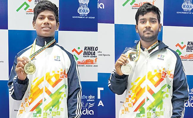 Four Medals Within One Day For Andhra Pradesh In Khelo India Youth Games - Sakshi