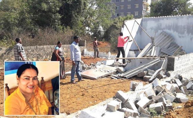 TDP Women Leader Arrested In Land Grabbing Case - Sakshi