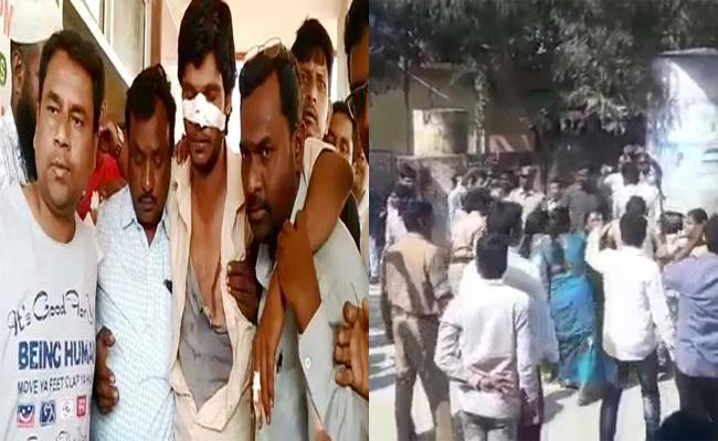 Clash Between TRS candidate And Congress Candidate In Bodhan - Sakshi
