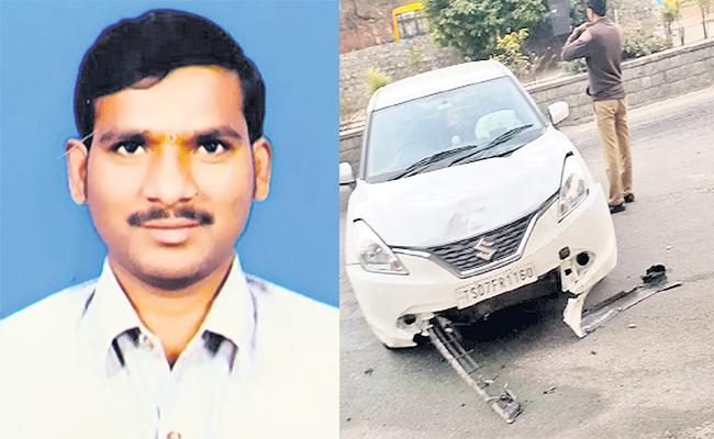 Man Died in Road Accident in Hyderabad - Sakshi