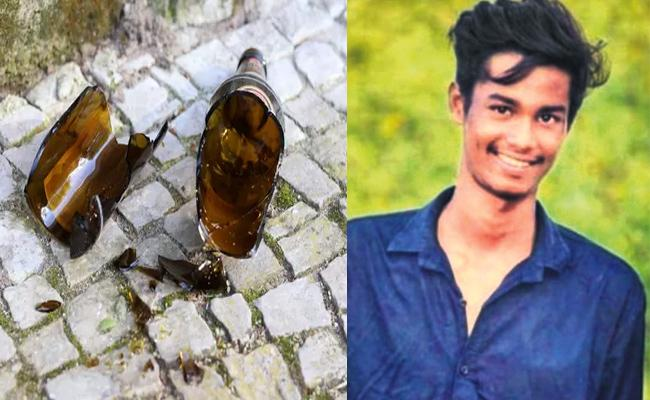 Drunk Friends Attack With Beer Bottle And Murder in Hyderabad - Sakshi
