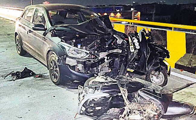 Biodiversity Flyover Car Accident Accused Driving License Canceled - Sakshi